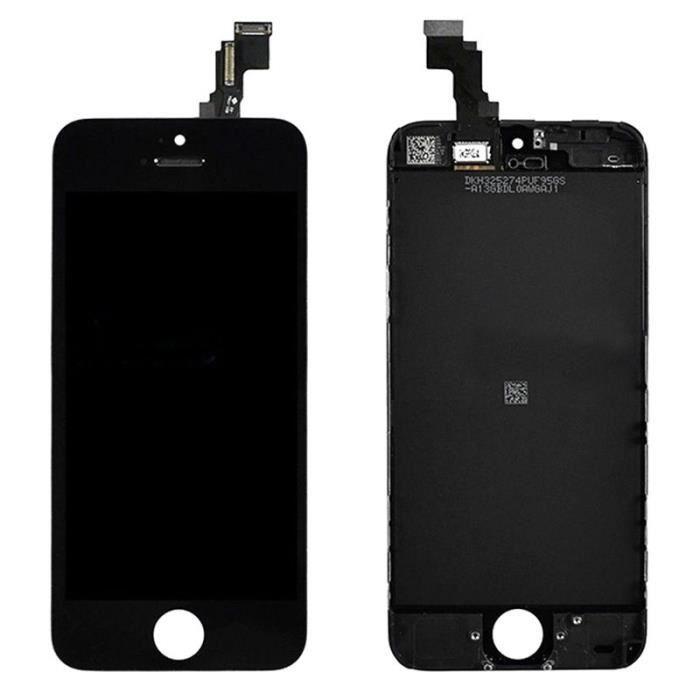 ecran complet vitre tactile lcd retina sur chassis noir pour iphone 5c grade b achat ecran de. Black Bedroom Furniture Sets. Home Design Ideas