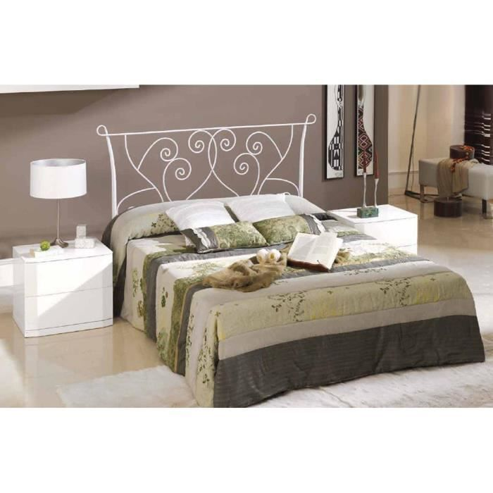 t te de lit en fer forg mod le nimes achat vente t te de lit soldes d hiver d s le 6. Black Bedroom Furniture Sets. Home Design Ideas