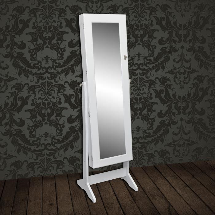 Miroir armoire a bijoux achat vente armoire de chambre for Armoire miroir bijoux