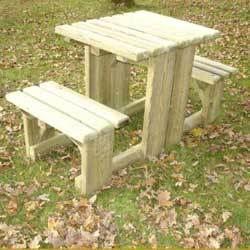 Table pique nique banc noisetiere achat vente table de pique nique table pique nique banc - Table jardin banc nancy ...