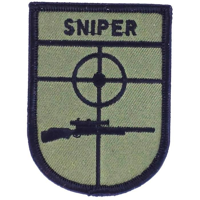 patch ecusson thermocollant sniper airsoft achat vente renfort patch patch sniper cdiscount. Black Bedroom Furniture Sets. Home Design Ideas