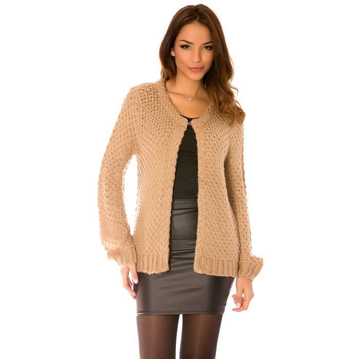 Pull grosse maille femme pas cher - Plaid grosse maille pas cher ...