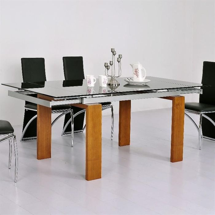 table ronde salle a manger avec rallonge valdiz. Black Bedroom Furniture Sets. Home Design Ideas