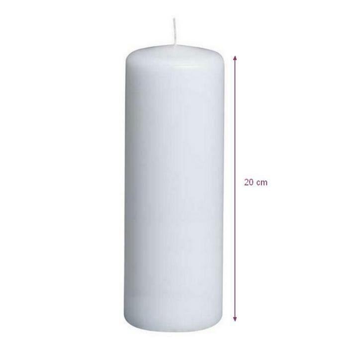 bougie blanche diam 70 mm x haut 200 mm dur 233 e de vie 60 h achat vente bougie d 233 corative