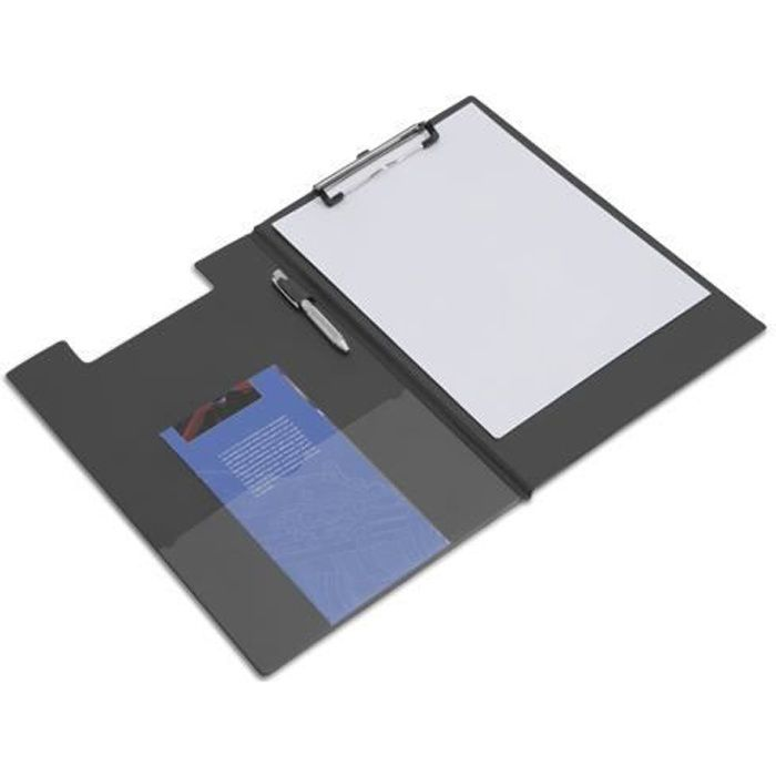 porte bloc rabat pour a4 noir achat vente porte copie bloc porte bloc rabat pour a4. Black Bedroom Furniture Sets. Home Design Ideas