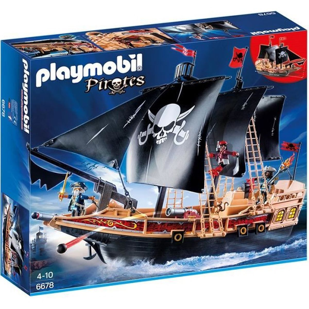 playmobil 6678 bateau pirates des t n bres achat vente univers miniature cadeaux de no l. Black Bedroom Furniture Sets. Home Design Ideas