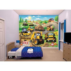 JCB Fresque Murale Tracteur 2,45x3,00 m Pour Enfant