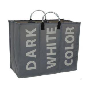 panier a linge compartimente achat vente panier a linge compartimente pas cher cdiscount. Black Bedroom Furniture Sets. Home Design Ideas