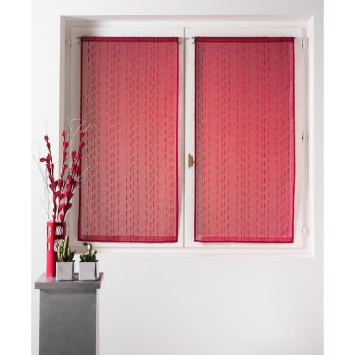 paire de voilage cottage 2 x 60 x 120 cm illet achat vente rideau cdiscount. Black Bedroom Furniture Sets. Home Design Ideas