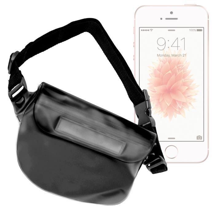 pochette banane tanche noire pour iphone se smartphone 4g cran retina 4 pouces lte wifi. Black Bedroom Furniture Sets. Home Design Ideas