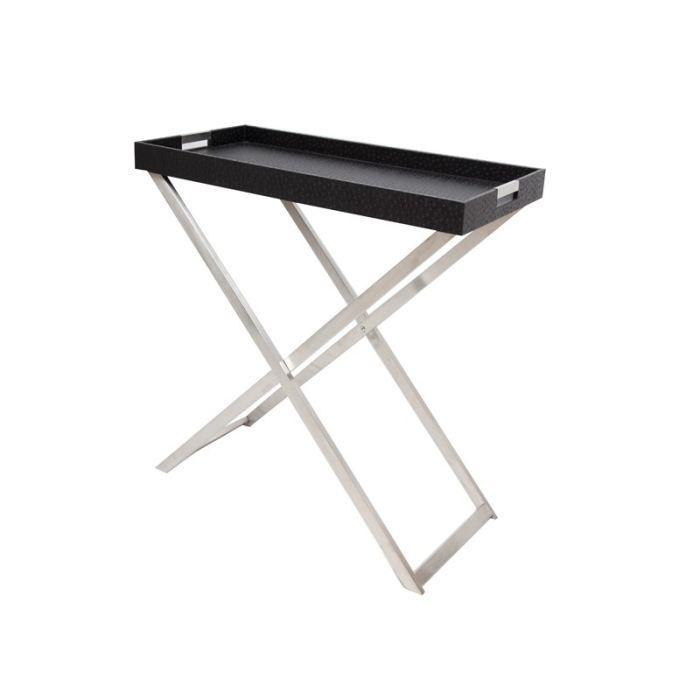 desserte aspect autruche noir achat vente caisson. Black Bedroom Furniture Sets. Home Design Ideas