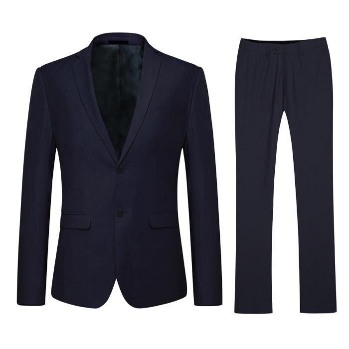 costume homme d contract et formelle mince ves bleu. Black Bedroom Furniture Sets. Home Design Ideas