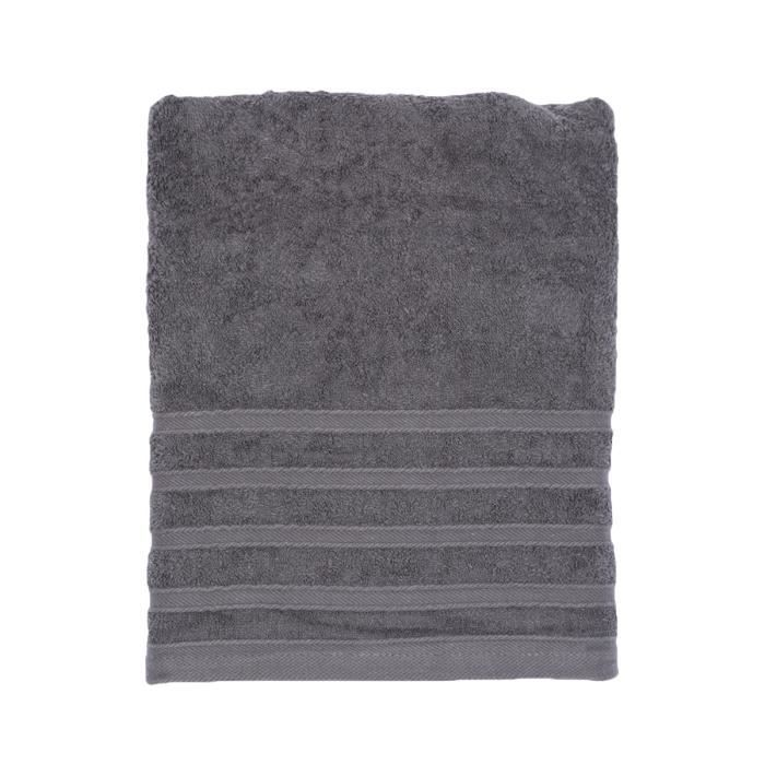serviette de toilette gris anthracite achat vente serviettes de bain cdiscount. Black Bedroom Furniture Sets. Home Design Ideas