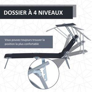 Chaise longue pliante achat vente chaise longue for Chaise longue avec pare soleil pas cher