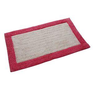 tapis de bain tapis de bain ponge 90 x 150 cm coloris rose - Tapis Color Pas Cher