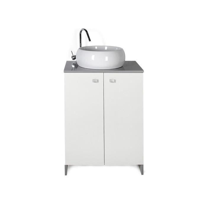rigato meuble de salle de bains 60cm achat vente meuble vasque plan rigato meuble de salle. Black Bedroom Furniture Sets. Home Design Ideas