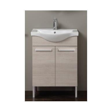 Meuble salle de bain tribeca bloc60x82x34 clair achat vente ensemble meu - Salle de bain discount allemagne ...