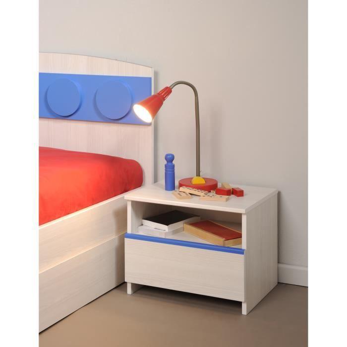 chevet enfant contemporain 1 tiroir coloris fr ne fabrick achat vente chevet chevet enfant. Black Bedroom Furniture Sets. Home Design Ideas