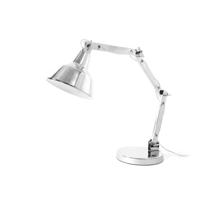 Miliboo lampe poser design chrome olimpia achat for Lampe a poser style industriel