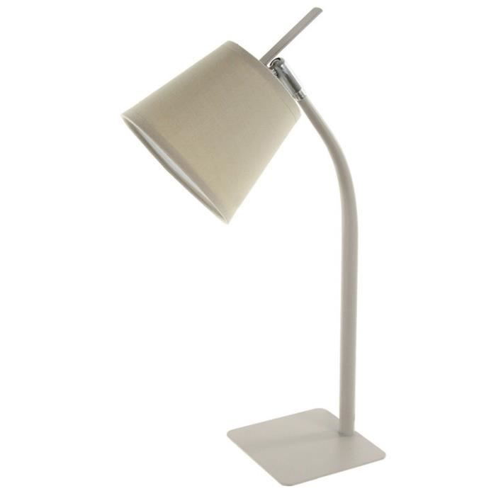 Paris Prix Lampe M Tal Avec Pied 50cm Taupe Achat