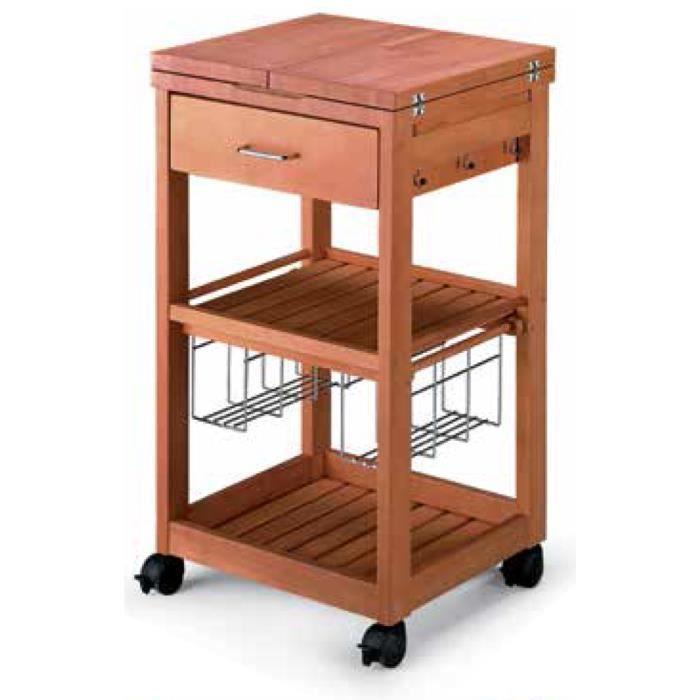 Table roulante udine avec tiroir en bois massif achat - Desserte de table roulante ...