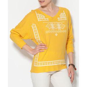 T-SHIRT Tee-shirt manches chauve-souris imprimé femme