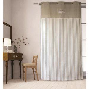 rideaux campagne achat vente rideaux campagne pas cher les soldes sur cdiscount cdiscount. Black Bedroom Furniture Sets. Home Design Ideas