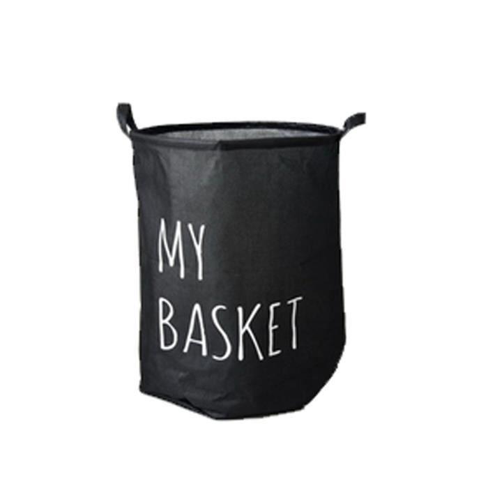 pliable pratique jouets panier linge sac de rangement mon panier noir achat vente panier a. Black Bedroom Furniture Sets. Home Design Ideas