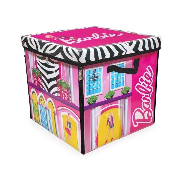 barbie zipbin bo te de jeu et de rangement villa de r ve achat vente coffre jouets. Black Bedroom Furniture Sets. Home Design Ideas