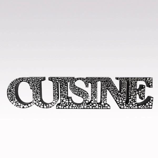Mot d co strass cuisine noir achat vente plaque de for Objet deco design pour cuisine