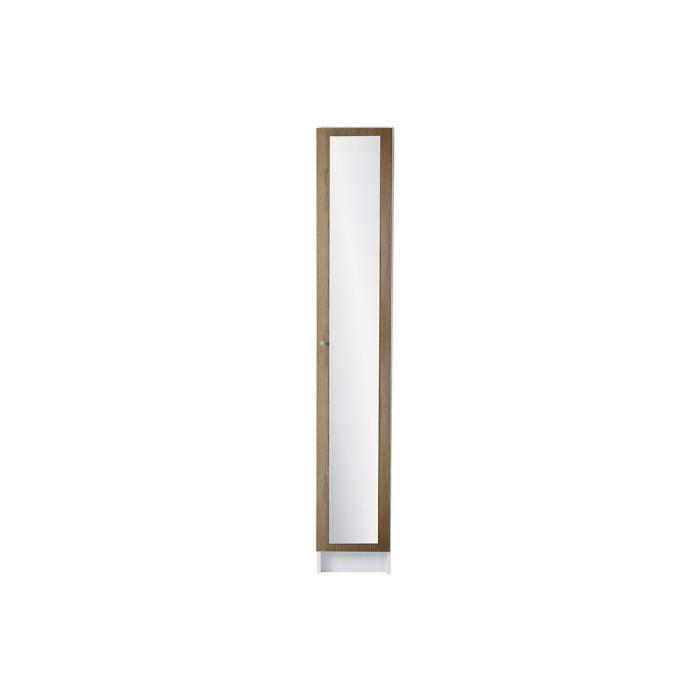 Colonne 1 porte couleur ch ne clair 29 cm wade achat - Rangement colonne plastique ...