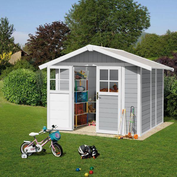 Abri de jardin deco 4 9 grosfillex gris achat vente for Grosfillex abri de jardin