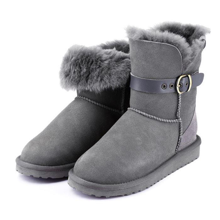 bottes de neige bride ditla po gris achat vente bottes de neige bride dit pas cher. Black Bedroom Furniture Sets. Home Design Ideas