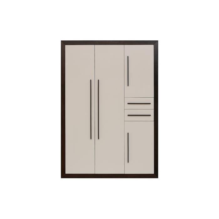 Armoire terra quatre portes couleur marketing marron - Armoire quatre portes ...