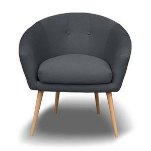 fauteuil gris anthracite achat vente fauteuil gris. Black Bedroom Furniture Sets. Home Design Ideas