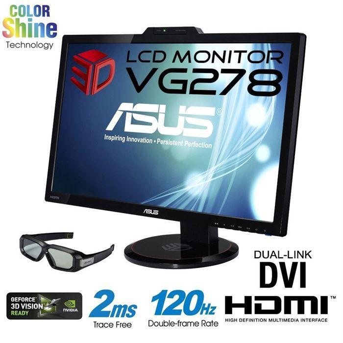 Asus vg278h 27 ecran 3d 120hz prix pas cher cdiscount for Ecran 27 pouces pas cher