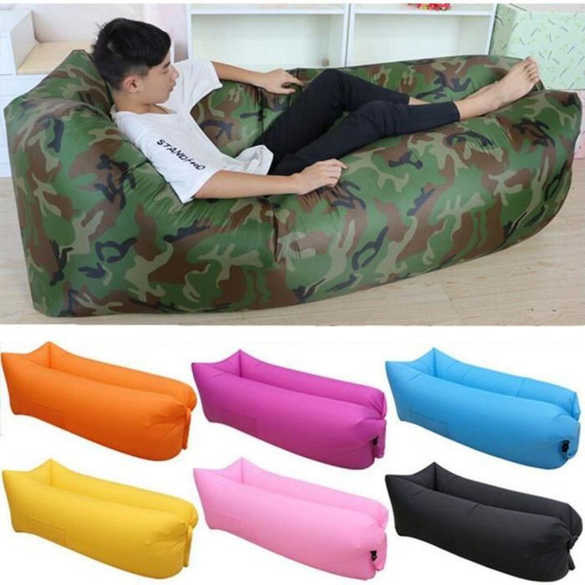 air canap gonflable chaise longue de plage portable canap matelas gonflable imperm able pour. Black Bedroom Furniture Sets. Home Design Ideas