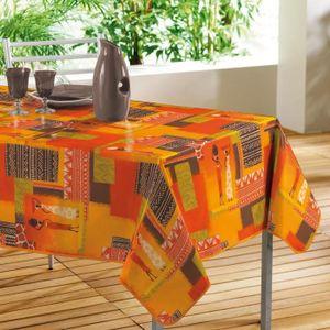 Nappe orange achat vente nappe orange pas cher cdiscount - Nappe de table rectangulaire pas cher ...