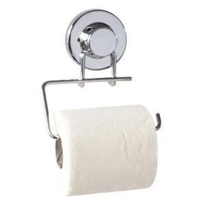 serviteur wc derouleur simple fix chrome - Tablette Salle De Bain Sans Percer
