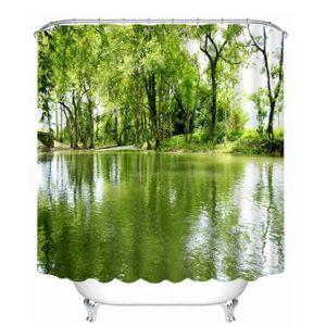Rideaux vert d eau achat vente rideaux vert d eau pas cher les soldes - Rideau de douche arbre ...