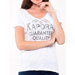 T-SHIRT Tee shirt KAPORAL 5 jeans femme palme blanc
