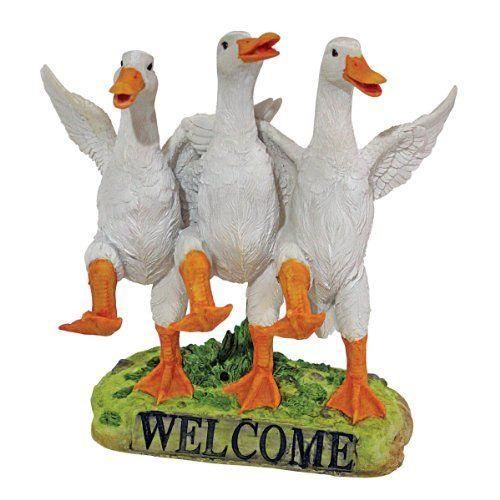 Design toscano by blagdon jq6260 statue de canards dansant r sine achat vente statue - Statue de jardin en resine ...