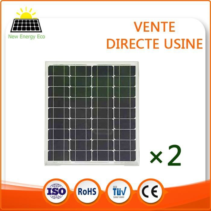 2 x panneau solaire 50w monocristallin achat vente radiateur panneau 2 x panneau solaire. Black Bedroom Furniture Sets. Home Design Ideas