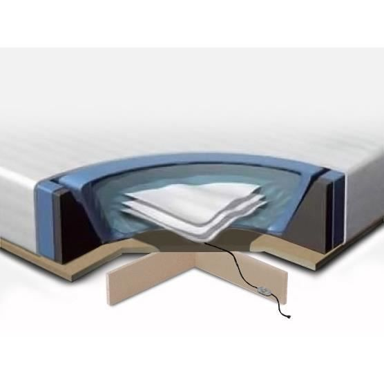 kit complet pour lit eau 160x200 cm matelas eau. Black Bedroom Furniture Sets. Home Design Ideas
