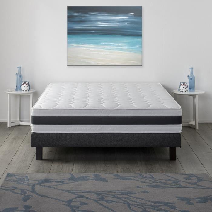 finlandek lieka ensemble mousse m moire de forme 160x200 24 cm ferme 30kg m3 sommier. Black Bedroom Furniture Sets. Home Design Ideas