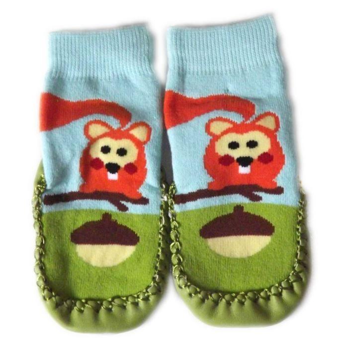chaussons chaussettes b b bleu et vert achat vente chausson pantoufle cdiscount. Black Bedroom Furniture Sets. Home Design Ideas