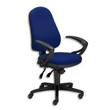 chaise offix tissu bleu m canisme asynchrone achat. Black Bedroom Furniture Sets. Home Design Ideas