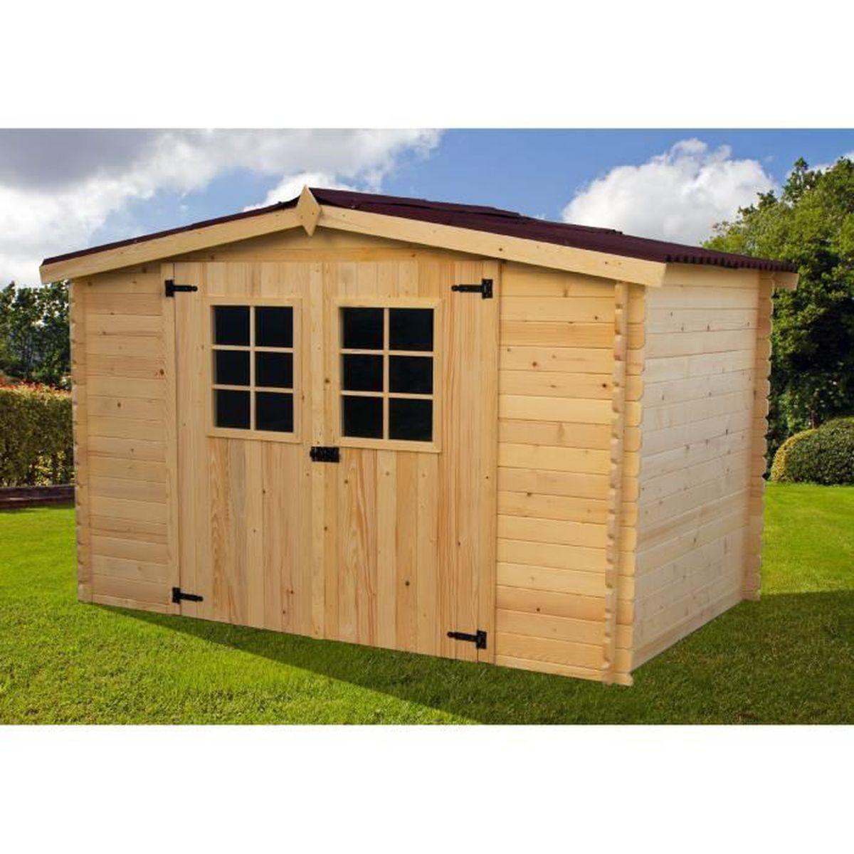 abri de jardin en bois 3x3 m achat vente abri jardin. Black Bedroom Furniture Sets. Home Design Ideas