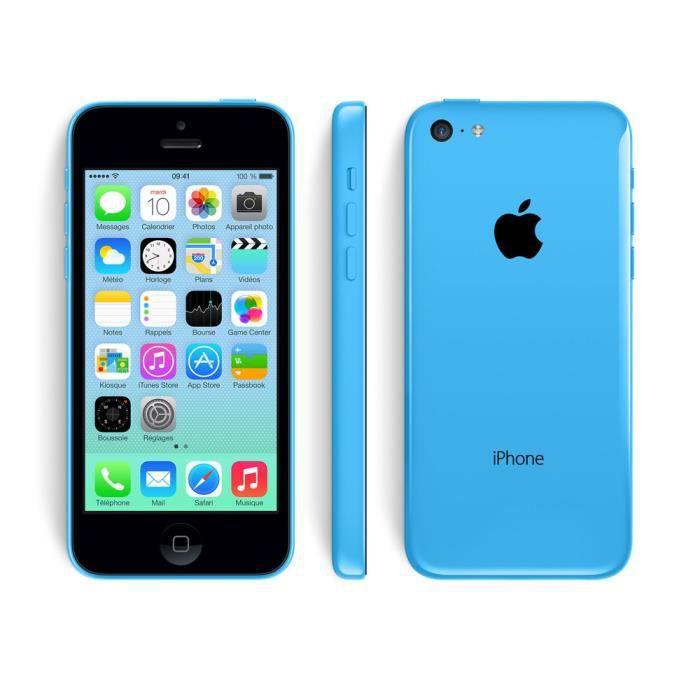 iphone 5c 16gb bleu achat smartphone pas cher avis et meilleur prix cdiscount. Black Bedroom Furniture Sets. Home Design Ideas
