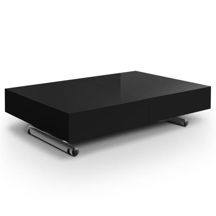 Table basse relevable l oni noir achat vente table basse table basse rele - Table basse relevable noir ...